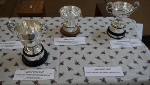 Some of the OBKA cups ready for the winning